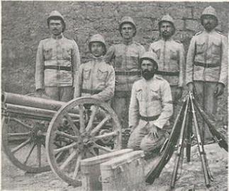 23 de agosto de 1915 Tropas portuguesas no Sul de Angola.